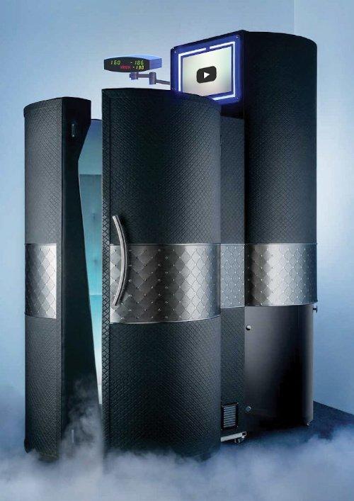 Krion Prestige, macchinario Criosauna  lusso con display